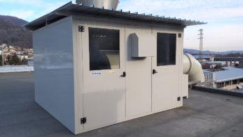 Cabina per impianto di aspirazione polveri