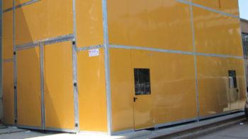 Cabina per impianto di taglio a filo settore marmo