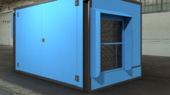 Cabina a protezione motore endotermico stagna
