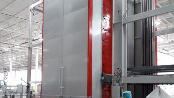 Cabina per forno cottura agglomerato